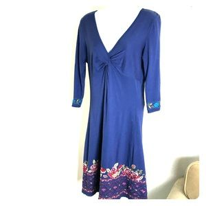 Johnny was knit dress w/ embroidery, medium as is